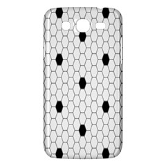 Black White Hexagon Dots Samsung Galaxy Mega 5 8 I9152 Hardshell Case  by Mariart