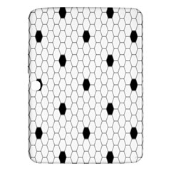 Black White Hexagon Dots Samsung Galaxy Tab 3 (10 1 ) P5200 Hardshell Case  by Mariart