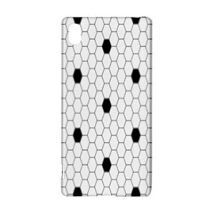 Black White Hexagon Dots Sony Xperia Z3+ by Mariart