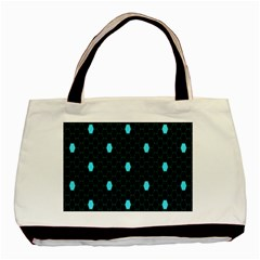 Blue Black Hexagon Dots Basic Tote Bag by Mariart
