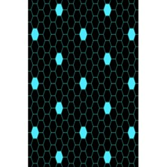 Blue Black Hexagon Dots 5 5  X 8 5  Notebooks by Mariart