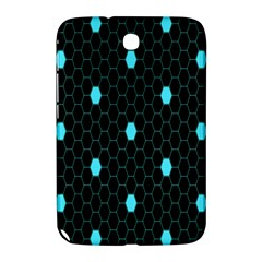 Blue Black Hexagon Dots Samsung Galaxy Note 8 0 N5100 Hardshell Case  by Mariart