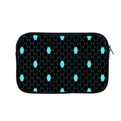 Blue Black Hexagon Dots Apple Macbook Pro 13  Zipper Case by Mariart