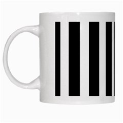 Black White Line Vertical White Mugs by Mariart