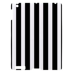 Black White Line Vertical Apple Ipad 3/4 Hardshell Case by Mariart