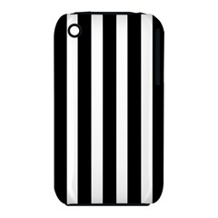 Black White Line Vertical Iphone 3s/3gs by Mariart