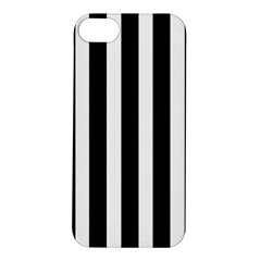Black White Line Vertical Apple Iphone 5s/ Se Hardshell Case