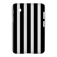 Black White Line Vertical Samsung Galaxy Tab 2 (7 ) P3100 Hardshell Case  by Mariart
