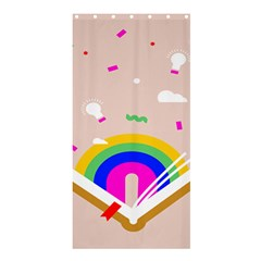 Books Rainboe Lamp Star Pink Shower Curtain 36  X 72  (stall)  by Mariart