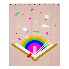 Books Rainboe Lamp Star Pink Shower Curtain 60  X 72  (medium)  by Mariart