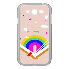 Books Rainboe Lamp Star Pink Samsung Galaxy Grand Duos I9082 Case (white) by Mariart