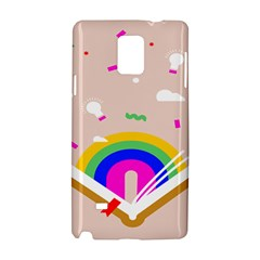 Books Rainboe Lamp Star Pink Samsung Galaxy Note 4 Hardshell Case by Mariart