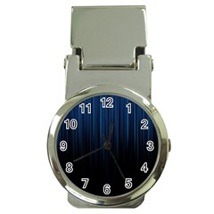 Black Blue Line Vertical Space Sky Money Clip Watches by Mariart