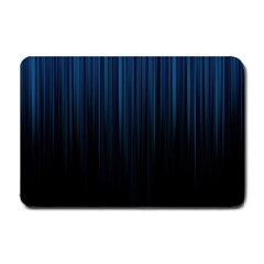 Black Blue Line Vertical Space Sky Small Doormat  by Mariart