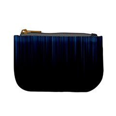 Black Blue Line Vertical Space Sky Mini Coin Purses by Mariart