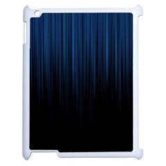 Black Blue Line Vertical Space Sky Apple Ipad 2 Case (white) by Mariart