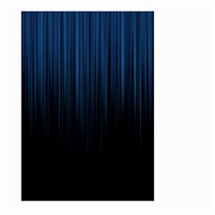 Black Blue Line Vertical Space Sky Large Garden Flag (two Sides) by Mariart