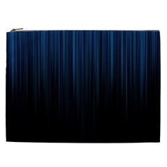 Black Blue Line Vertical Space Sky Cosmetic Bag (xxl)  by Mariart