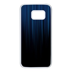 Black Blue Line Vertical Space Sky Samsung Galaxy S7 White Seamless Case by Mariart