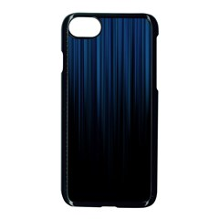 Black Blue Line Vertical Space Sky Apple Iphone 7 Seamless Case (black) by Mariart