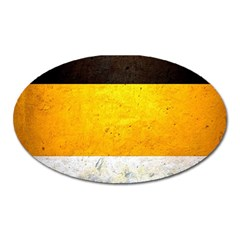 Wooden Board Yellow White Black Oval Magnet by Mariart