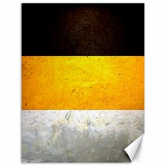 Wooden Board Yellow White Black Canvas 12  X 16   by Mariart