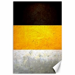 Wooden Board Yellow White Black Canvas 24  X 36  by Mariart
