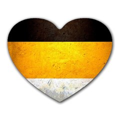 Wooden Board Yellow White Black Heart Mousepads by Mariart