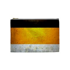 Wooden Board Yellow White Black Cosmetic Bag (medium)  by Mariart