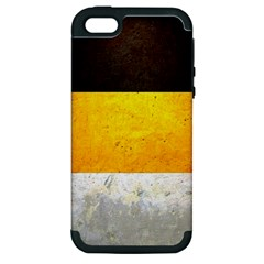 Wooden Board Yellow White Black Apple Iphone 5 Hardshell Case (pc+silicone) by Mariart