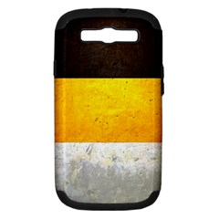 Wooden Board Yellow White Black Samsung Galaxy S Iii Hardshell Case (pc+silicone) by Mariart