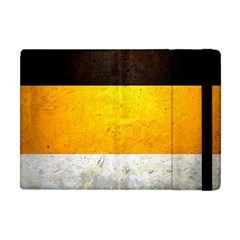 Wooden Board Yellow White Black Apple Ipad Mini Flip Case by Mariart