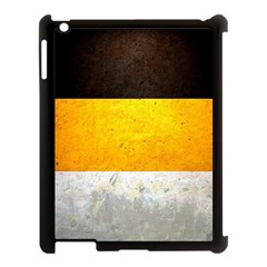 Wooden Board Yellow White Black Apple Ipad 3/4 Case (black) by Mariart