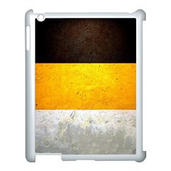 Wooden Board Yellow White Black Apple Ipad 3/4 Case (white) by Mariart