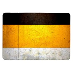 Wooden Board Yellow White Black Samsung Galaxy Tab 8 9  P7300 Flip Case by Mariart