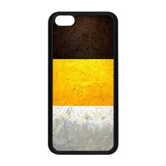 Wooden Board Yellow White Black Apple Iphone 5c Seamless Case (black) by Mariart
