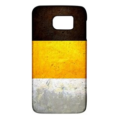 Wooden Board Yellow White Black Galaxy S6 by Mariart
