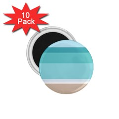 Dachis Beach Line Blue Water 1 75  Magnets (10 Pack)  by Mariart