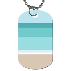 Dachis Beach Line Blue Water Dog Tag (one Side) by Mariart