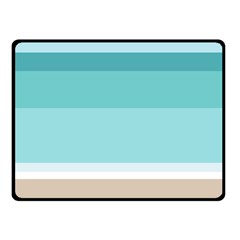 Dachis Beach Line Blue Water Fleece Blanket (small) by Mariart