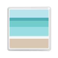 Dachis Beach Line Blue Water Memory Card Reader (square)  by Mariart