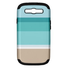 Dachis Beach Line Blue Water Samsung Galaxy S Iii Hardshell Case (pc+silicone) by Mariart
