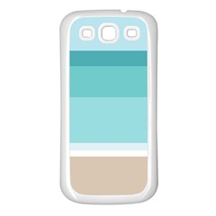 Dachis Beach Line Blue Water Samsung Galaxy S3 Back Case (white) by Mariart