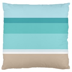 Dachis Beach Line Blue Water Standard Flano Cushion Case (one Side) by Mariart