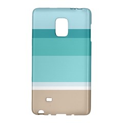 Dachis Beach Line Blue Water Galaxy Note Edge by Mariart
