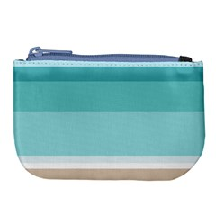 Dachis Beach Line Blue Water Large Coin Purse by Mariart