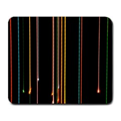 Fallen Christmas Lights And Light Trails Large Mousepads by Mariart