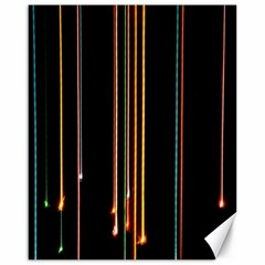 Fallen Christmas Lights And Light Trails Canvas 16  X 20   by Mariart