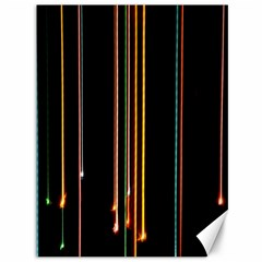 Fallen Christmas Lights And Light Trails Canvas 36  X 48   by Mariart
