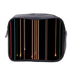 Fallen Christmas Lights And Light Trails Mini Toiletries Bag 2 Side by Mariart